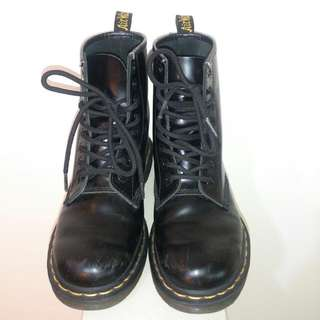 [二手 可議價]Dr.martens 1460 馬汀靴 馬丁鞋 8孔黑色 UK5 EU38 24cm size 女鞋