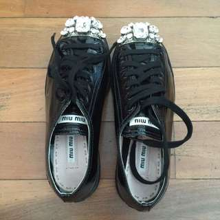 Authentic bnb Miu Miu Prada Swarovski Shoes