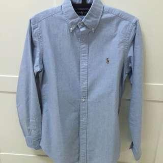 Polo 淺藍 襯衫 全新正品