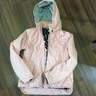 粉色點點棉外套
