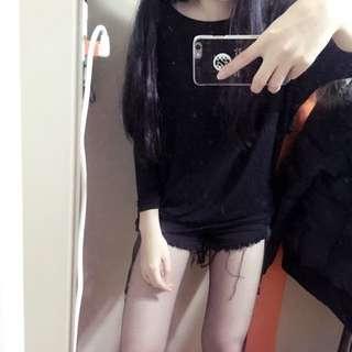 全新 韓版 黑色 上衣