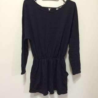 黑色針織洋裝