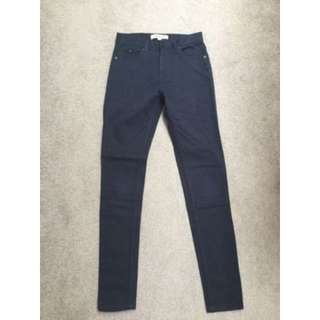 Whistles Womens Navy Blue Jeans Size 26
