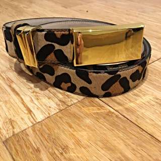 Sass And Bide Leopard Belt M/L