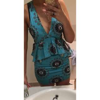 ANGEL BIBA BLUE MINI DRESS