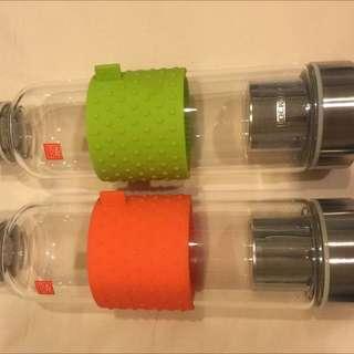 樂扣隨身玻璃瓶(不鏽鋼泡茶系列)