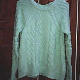 糖果綠毛衣