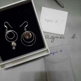 Agnes b純銀耳環