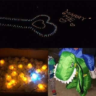 浪漫告白求婚LED燭光 (另外 加贈恐龍衣)