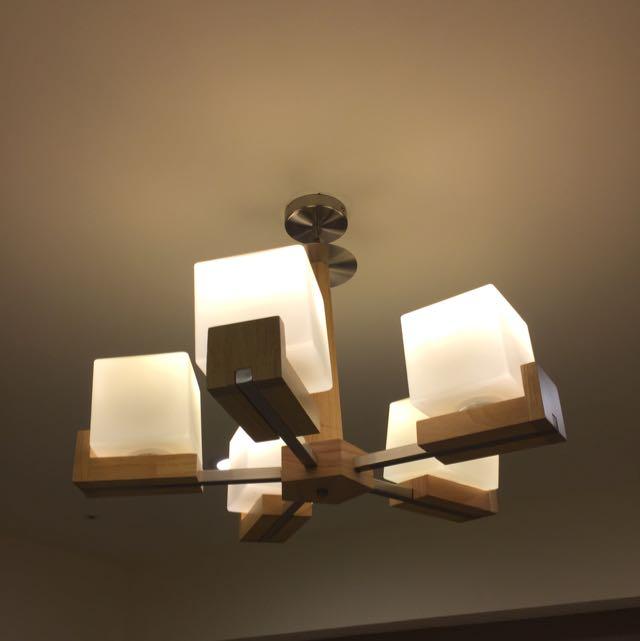 仿冰塊極簡風客廳/臥室吊燈