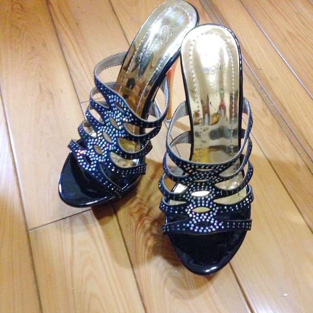 [二手]水鑽漸層造型高跟鞋