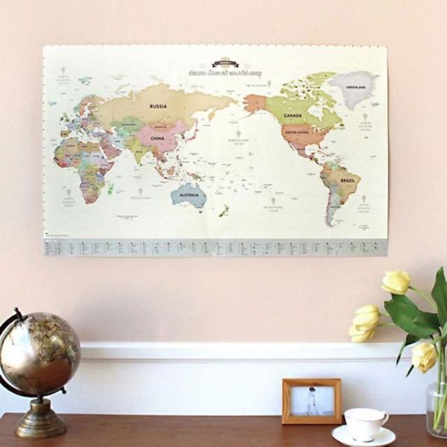世界地圖功能實用性海報