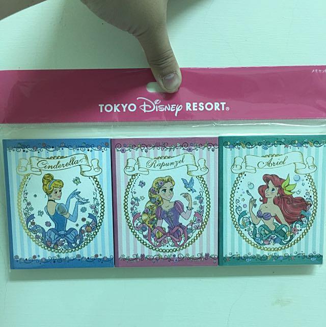 迪士尼公主故事本便條紙 💗