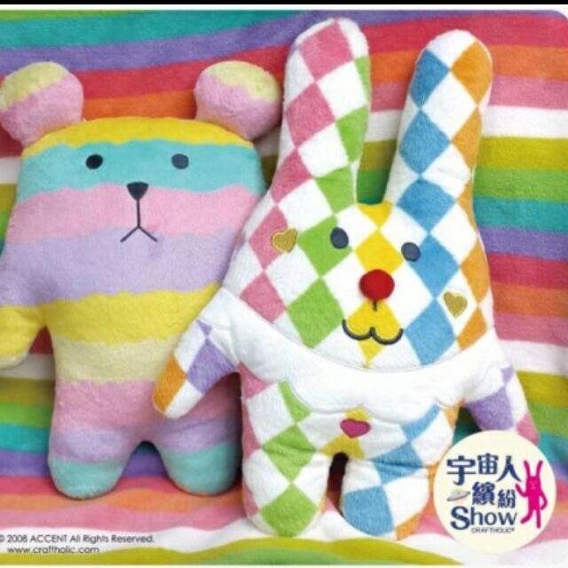 宇宙人 棉花糖熊 玩偶