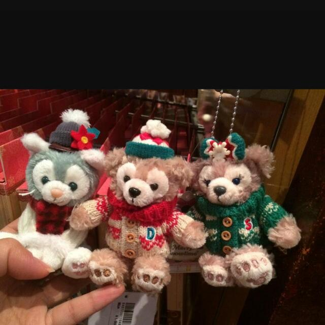 聖誕達菲坐姿和雪莉玫站姿   迪士尼海洋購入 duffy共1050(已售出 )