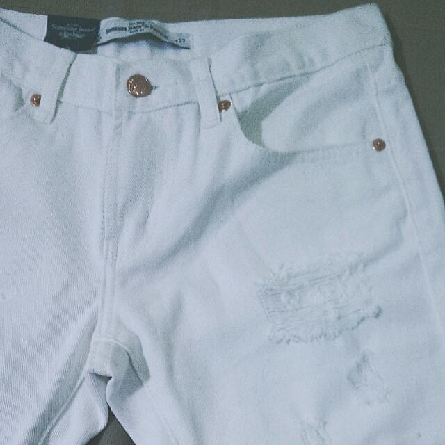 白帥帥英挺破壞男友褲 White Cool Jeans