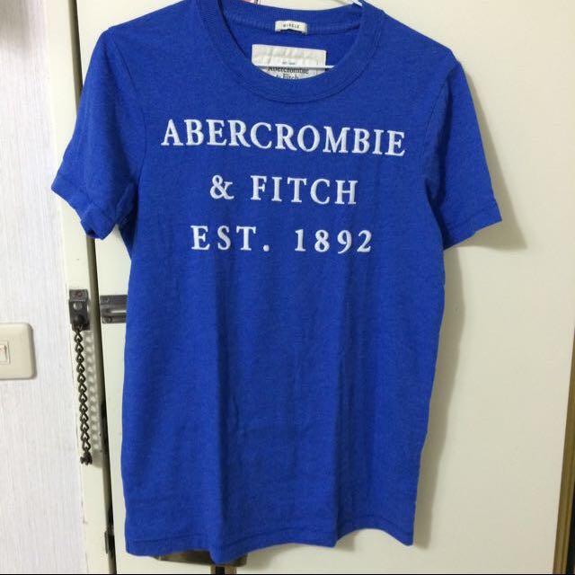A&F 藍色T-shirt 國外帶回
