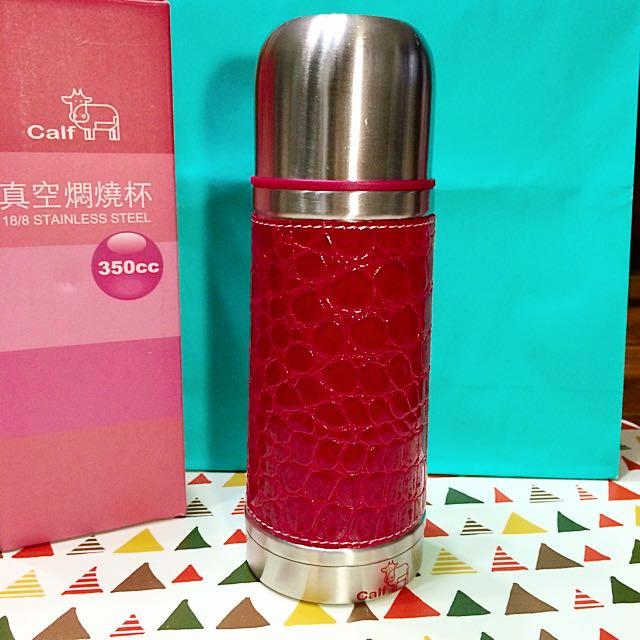 [全新]Calf 真空燜燒杯(紅)