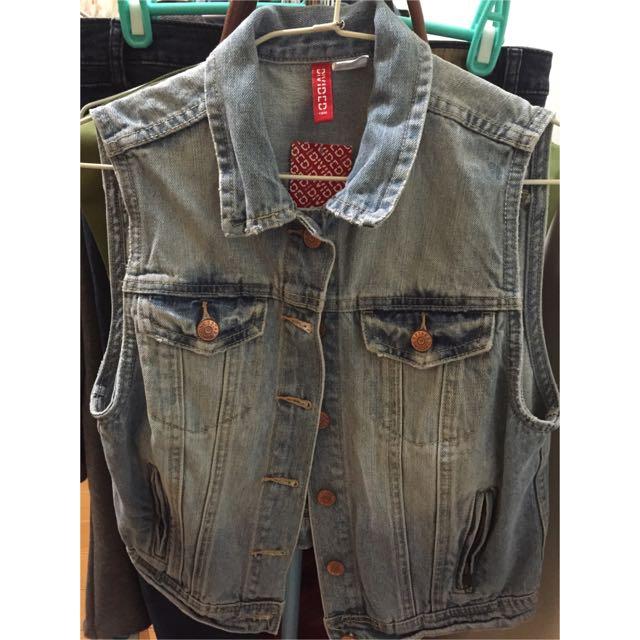 H&M牛仔背心外套