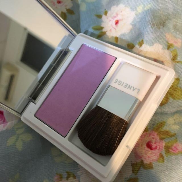蘭芝Laneige紫色超上鏡腮紅