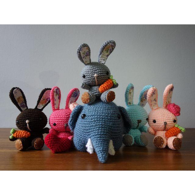 Large Crochet Elephant Ears (Amigurumi) | 640x640