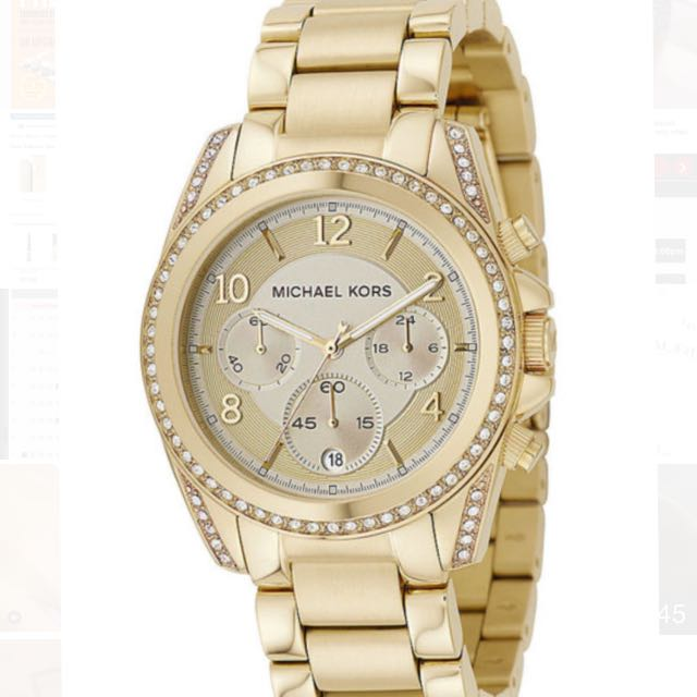 Michael Kors Women's MK5166 Gold Tone  Stainless Steel Chronograph Watch