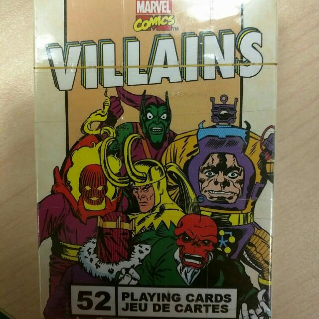 Rare Marvel Villian Poker Cards