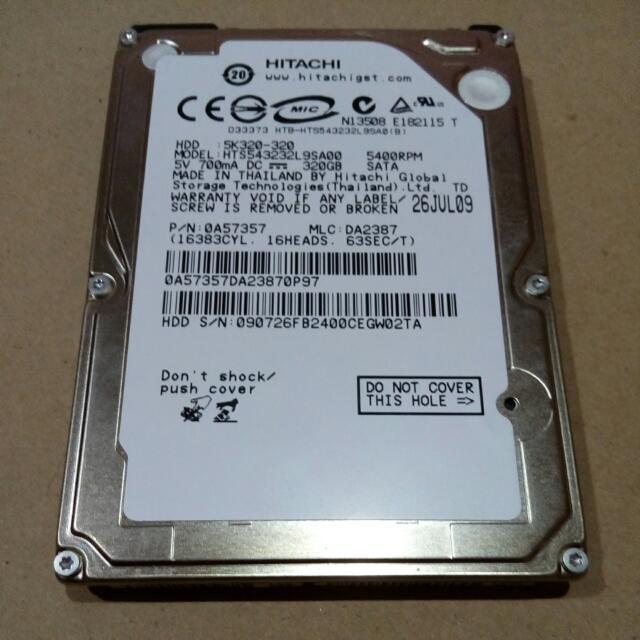 (SECOND) Harddisk Internal Hitachi 320GB