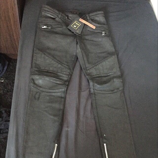 Size 32 BALMAIN X H&M Biker Jeans