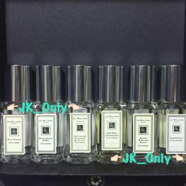 (全新)Jo Malone  限量 9ml 小香水 任一款 青檸羅勒柑橘、黑莓月桂葉、葡萄柚、杏桃花蜂蜜
