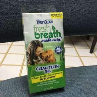 Dog/Cat Dental Care: Brand new Tropiclean Clean Teeth Gel