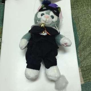 日本 迪士尼 畫家貓 Gelatoni 傑拉東尼 萬聖節 站姿吊飾~現貨~