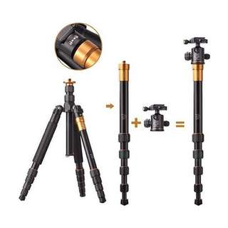 Camera Tripod + Monopod + Ball Head (Beike Q666 Twisted Lock for DSLR and Mirrorless Camera)