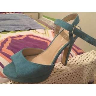 Blue Heels Size 9