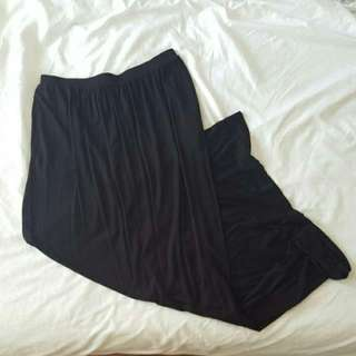 H&M Plain Black Maxi Skirt With Pockets