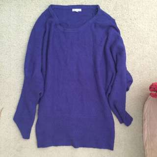 Blue Batwing Knit