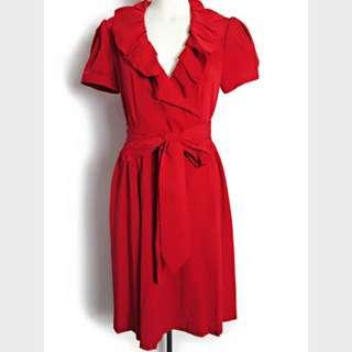 Diane von Forstenberg 紅色洋裝❤️ DVF