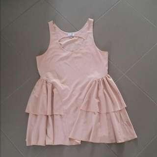 Peach Stretch Dress   Size 12