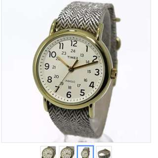 Timex Weekender with White Grey Strap, Women's Fabric Strap Watch TW2P71900