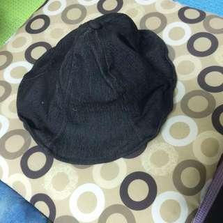 全新黑色 可彎邊 漁夫帽