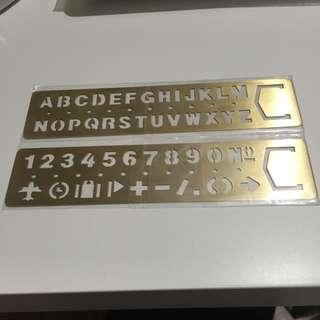 銅尺 英文&數字