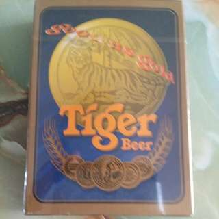 Vintage Tiger Beer Playing Card