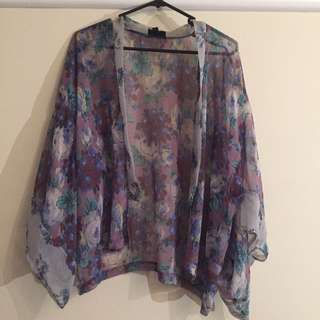 Topshop Cropped Kimono