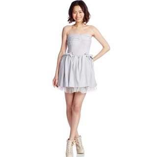全新 日貨SNIDEL 蝴蝶結平口紗裙小禮服 洋裝 婚禮 含運