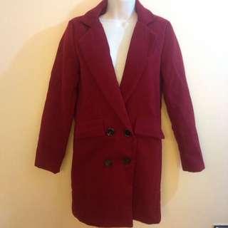 全新✨酒紅色外套