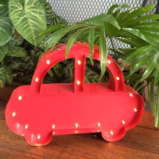 Marquee Light - Beetle Car in Red
