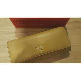Prada Long Wallet (Gold)