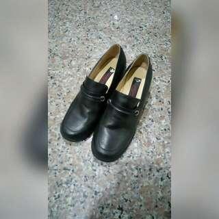 復古黑色跟鞋【GLORI SHERRY】