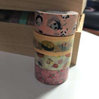 Mark's Maste  熊貓 壽司 蘑菇 碎花 紙膠帶 分裝