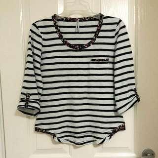 Cute B&W Striped Shirt